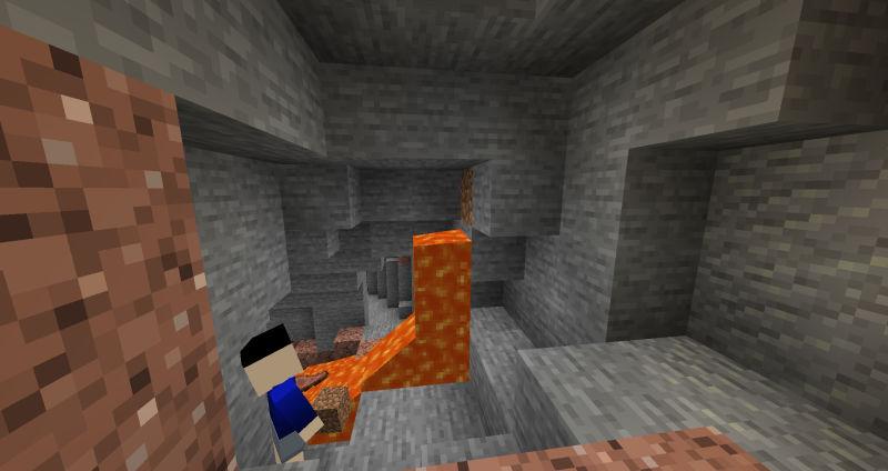マグマの源を土ブロックを埋める