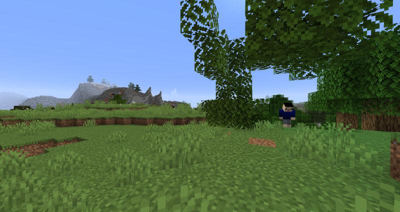 拠点付近の木を伐採