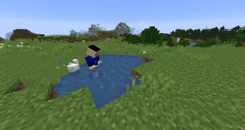 小麦の種を収穫するセナ