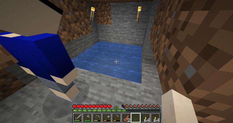 拠点内の無限水源