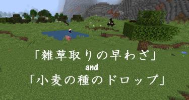 「雑草取りの早わざ」と「小麦の種のドロップ」方法【Waku2マイクラ】