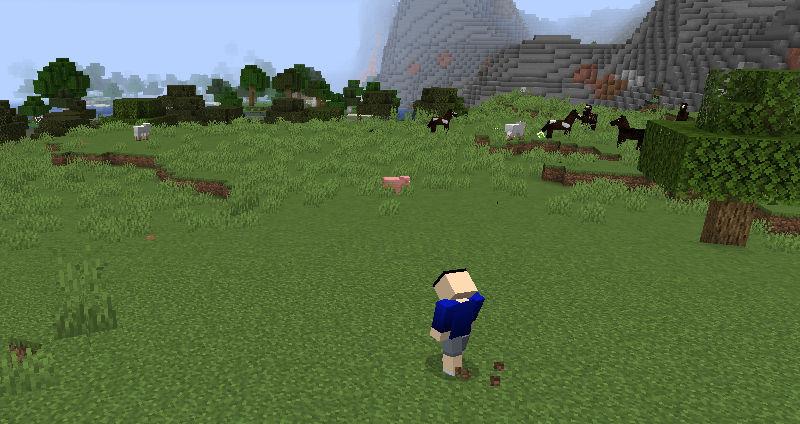 雑草がたくさん生えている場所へ移動するセナ