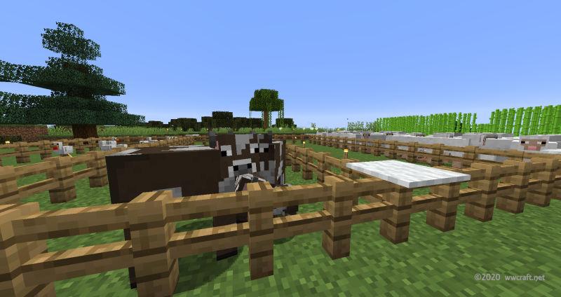 ウシの牧場完成!