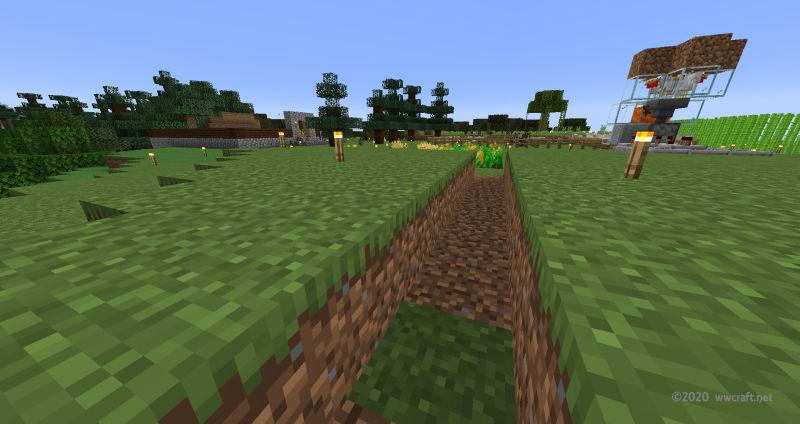 カボチャ畑の場所を整地するベリー