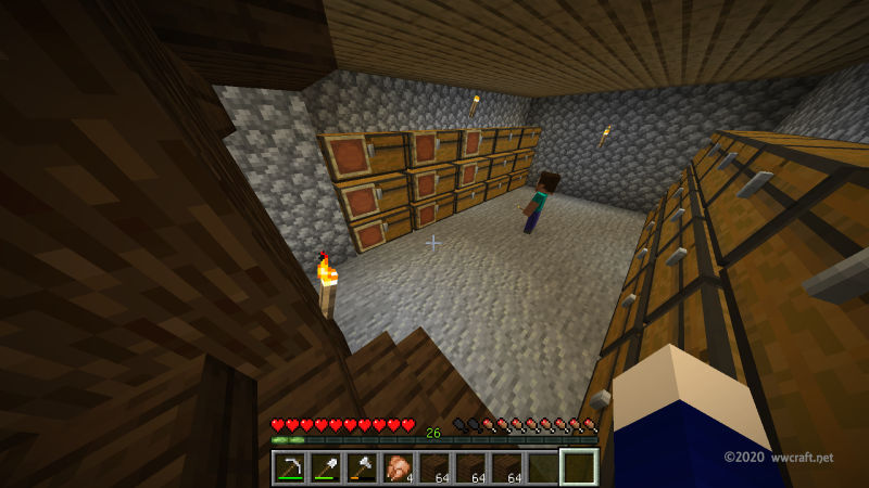 完成した地下室