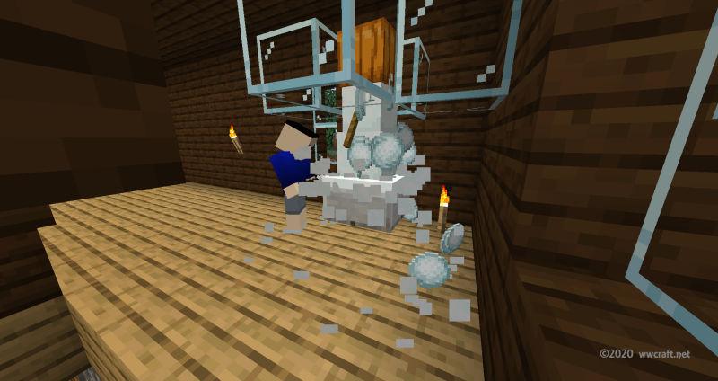スノーゴーレムから雪玉を生産