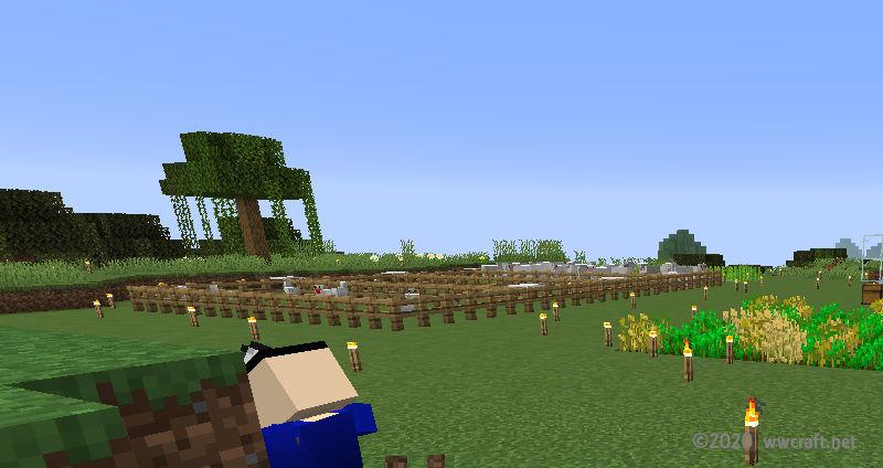 拠点の敷地を整地した日の牧場