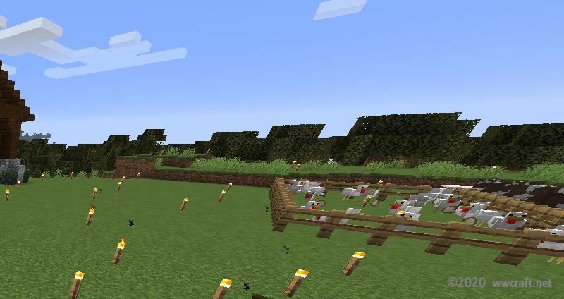 セナが家の外観を作った日の牧場