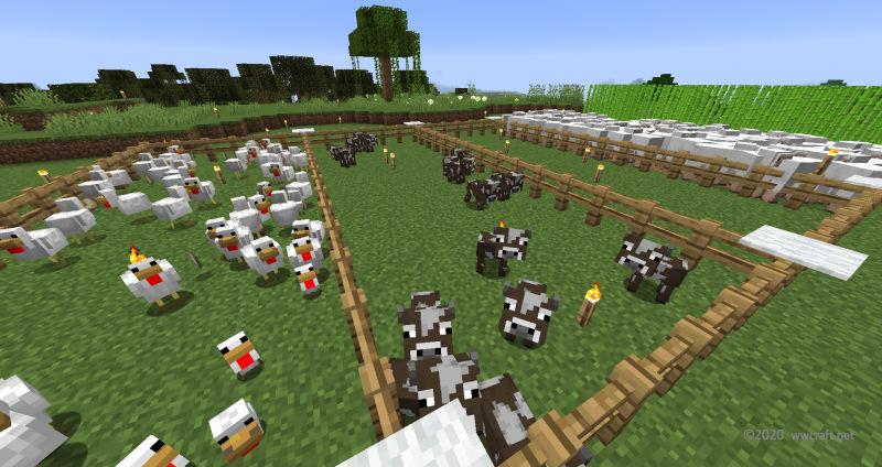 子ウシだけが残っている状態の牧場