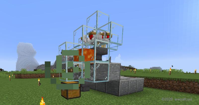 焼き鳥自動製造機の完成状態