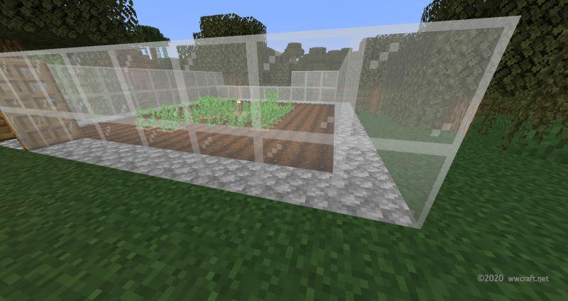 ビニールハウスの作成中、ガラスがなくなった