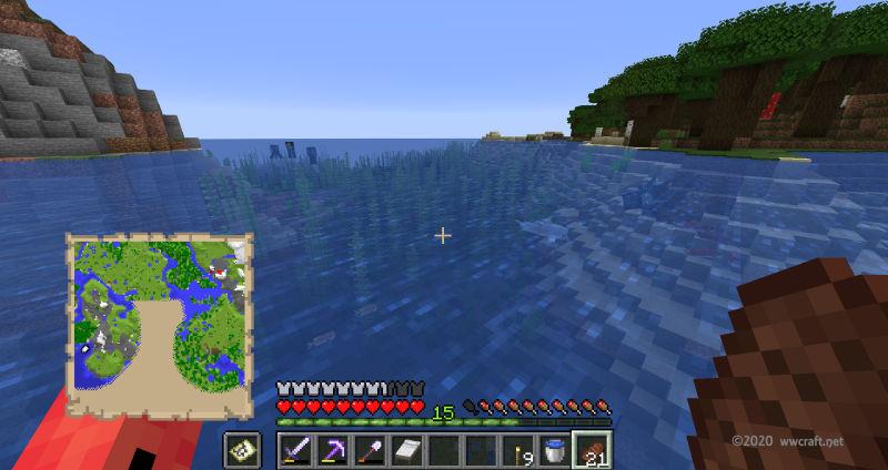 地図の穴埋め中に海を発見