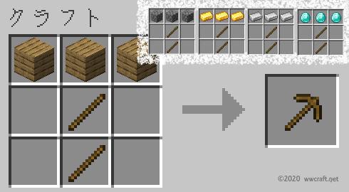 ツルハシの作り方
