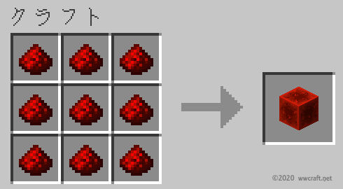 レッドストーンブロックの作り方