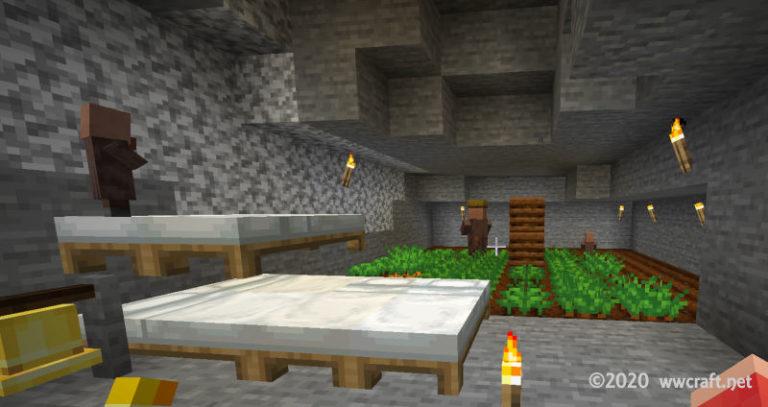 ベッド6台の村
