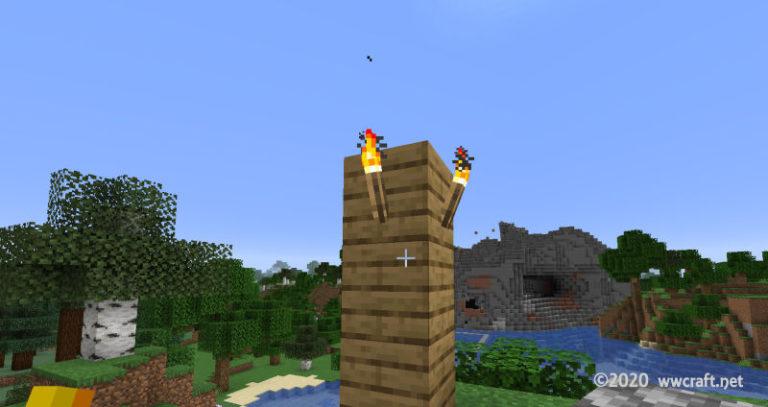 高台に目印を建てる