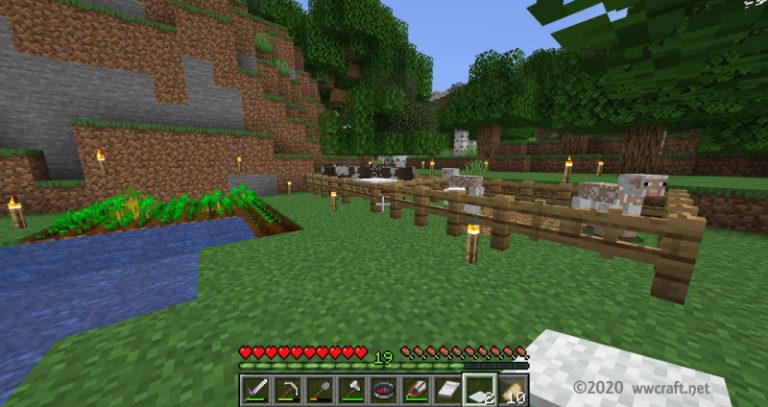 拠点の牧場と畑