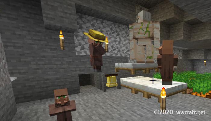 はじめて新しい村に現れたゴーレム
